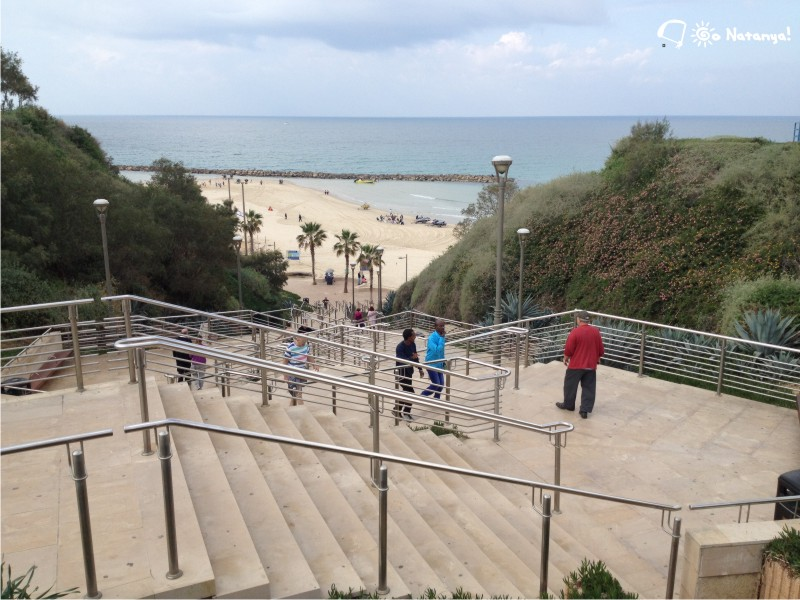 The stairway to Sironit Beach, Netanya