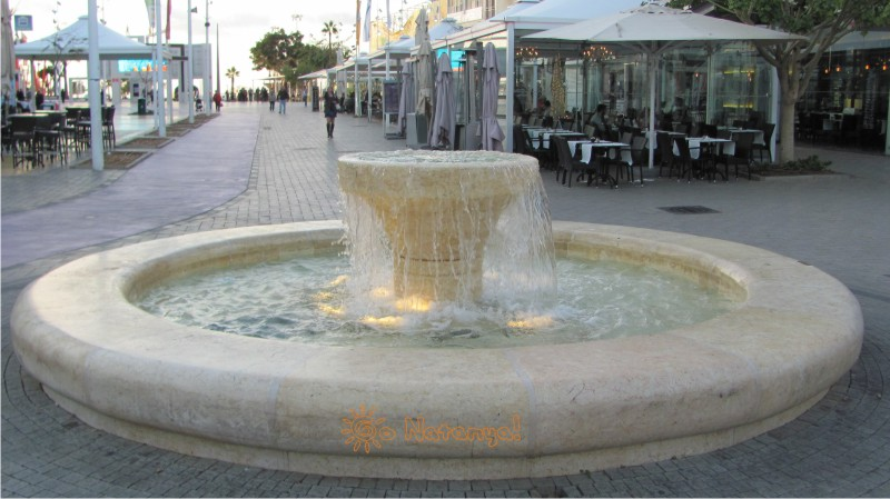 Fountain on Hertsel street in Netanya